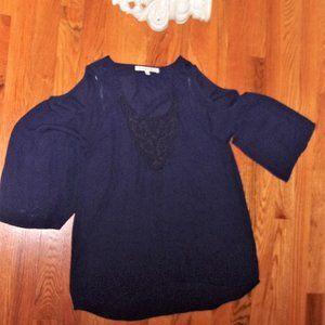 daniel rainn boho extra small blue shirt top